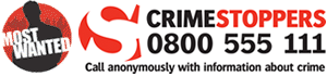 Crimestoppers 0800 555 111 - Call anonymously with information about crime